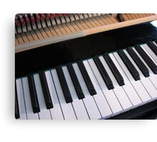 Section of Piano Keyboard Canvas Print