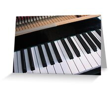 Section of Piano Keyboard Greeting Card