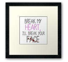 Breaks Framed Print