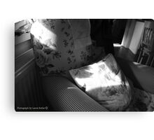 A Seat in the Sun - Cottage Interior, County Donegal. Canvas Print