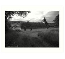 Low lying Thatch on the Foothills, Killbegs, Donegal. Art Print