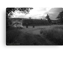 Low lying Thatch on the Foothills, Killbegs, Donegal. Canvas Print
