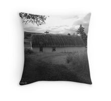 Low lying Thatch on the Foothills, Killbegs, Donegal. Throw Pillow