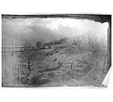 View through Veils - Cottage Window, County Antrim. Poster