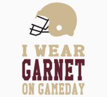 I Wear Garnet on Gamedays Kids Tee