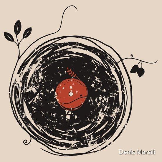 TShirtGifter presents: Enchanting Vinyl Records Vintage