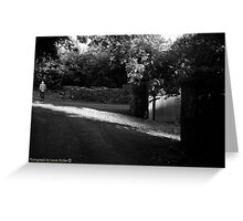 The Road Back, Evening Light, County Tipperary. Greeting Card