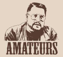The Big Lebowski Walter Sobchak Amateurs T-Shirt by theshirtnerd