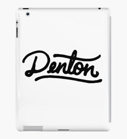 Brush Script Denton, Texas iPad Case/Skin