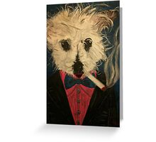 Ziggy The Distinguished Smoking Dog Greeting Card