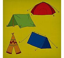 Tents (tense) Decision Photographic Print