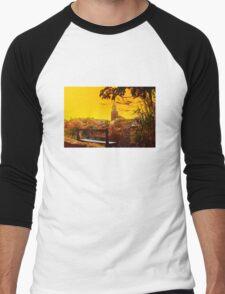 Golden Sunset over Saint Tropez - The French Riviera Men's Baseball ¾ T-Shirt