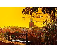 Golden Sunset over Saint Tropez - The French Riviera Photographic Print