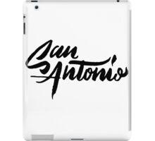 Brush Script San Antonio, Texas iPad Case/Skin