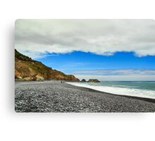 Walking On The Lost Coast Canvas Print