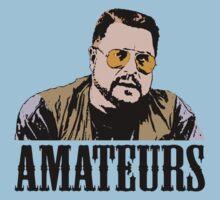 The Big Lebowski Walter Sobchak Amateurs Color T-Shirt by theshirtnerd