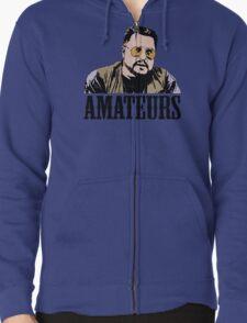 The Big Lebowski Walter Sobchak Amateurs Color T-Shirt Zipped Hoodie