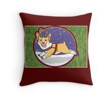 Rudolph the Red Nosed Corgi - Card Throw Pillow