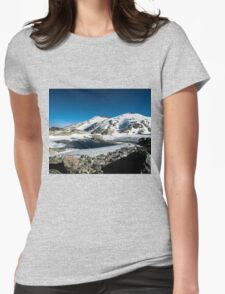 Tranquil Lake Womens Fitted T-Shirt