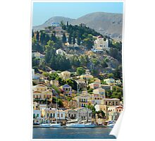 Yachts in Yialos Poster