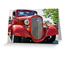 Red Custom Chevy Truck Greeting Card