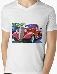 Custom Chevy Hot Rod Truck Mens V-Neck T-Shirt