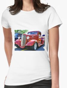 Custom Chevy Hot Rod Truck Womens Fitted T-Shirt