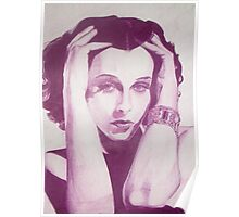 Monochromatic Starlet - Hedy Lemarr Poster