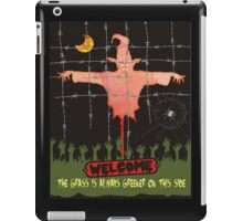 Halloween scarecrow zombie grass is greener iPad Case/Skin