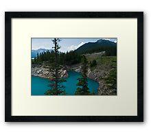 Abraham Lake Vista, Alberta Framed Print