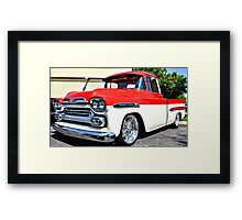 Chevy Apache Hot Rod Custom Truck Framed Print