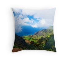 Kalalau Valley Vista Throw Pillow