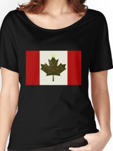 Holiday Canadian Flag Women's Relaxed Fit T-Shirt