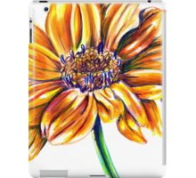 Yellow Flower Colored Pencil Drawing iPad Case/Skin
