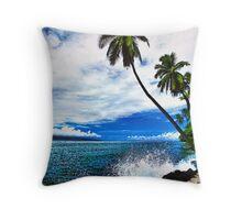 Lahaina Ocean Spray Throw Pillow