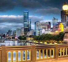 St. Kilda Rd Bridge - Melbourne by Frank Moroni