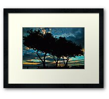 Lahaina Silhouette Framed Print
