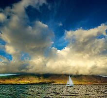 Maui Sailboat Cloudscape by Benjamin Padgett