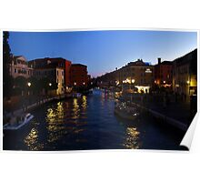 Venice Italy at Night Poster