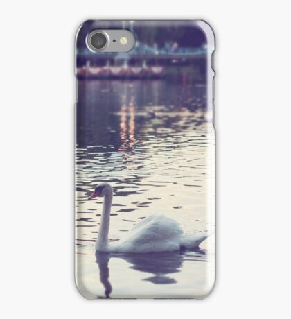 swan and swan boats in boston iPhone Case/Skin