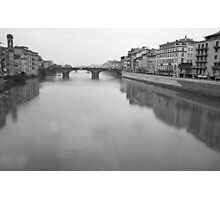 Arno River in Florence, Italy Photographic Print