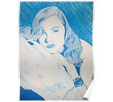 Monochromatic Starlet - Veronica Lake Poster