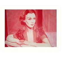 Monochromatic Starlet - Vivien Leigh Art Print