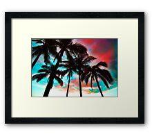 Waikiki Skyscape Framed Print