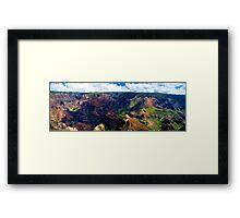 Waimea Canyon Panoramic Framed Print