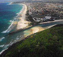 Aerial view of the Gold Coast by pacian