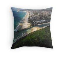 Aerial view of the Gold Coast Throw Pillow