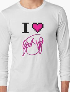 I Heart Flowers (White) Long Sleeve T-Shirt