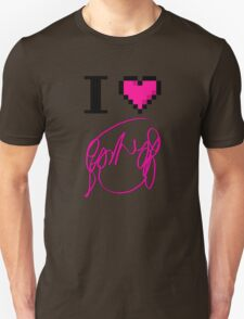 I Heart Flowers (White) Unisex T-Shirt
