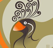 The Crested Auklet  by MariabelonesArt